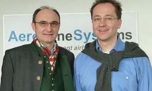 Peter joins Aero Enterprise- left Peter-right Robert