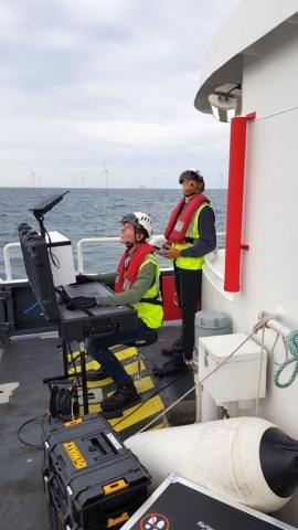 Offshore Groundstation During Flight